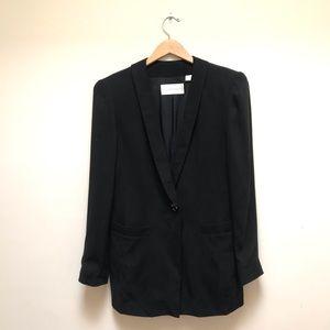 Dana Buchman | Silk One Button Blazer Jacket